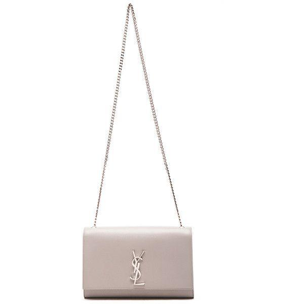 Saint Laurent Medium Monogram Chain Bag ❤ liked on Polyvore featuring bags, handbags, yves saint laurent handbags, monogrammed handbags, yves saint laurent, yves saint laurent bags and chain bags