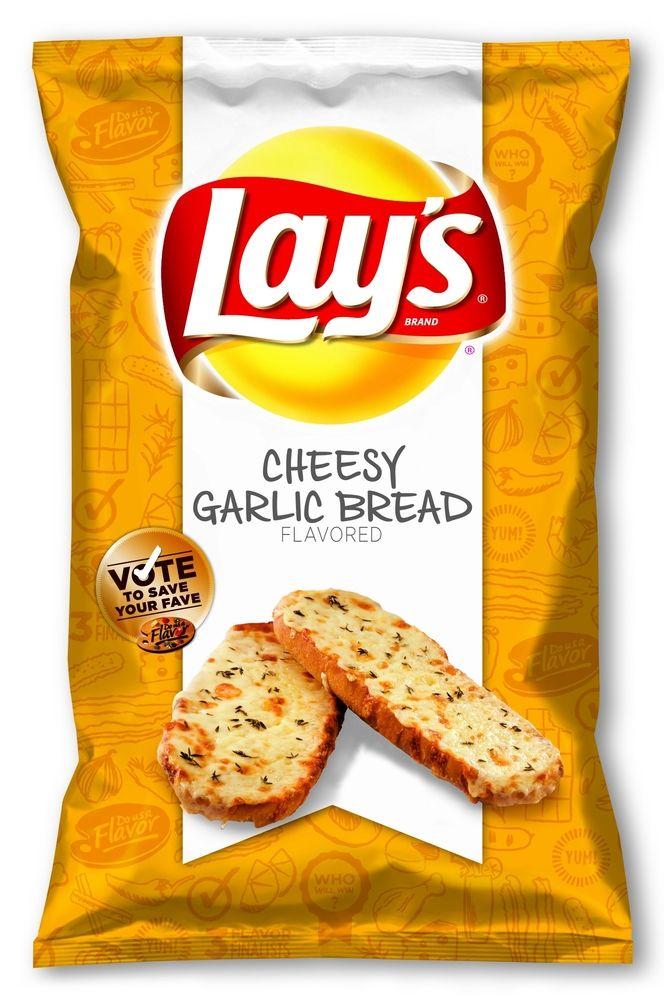Cheesy Garlic Bread flavored  New Lay's Potato Chips