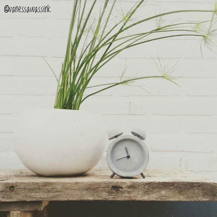 Best-budget-buy; dit staande klokje van grijs beton (Betolla 10x5x13cm) is te koop bij Kwantum voor slechts 4. Bedankt dat ik je mooie foto mocht delen @vanessawassink!