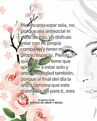 SUEÑOS DE AMOR Y MAGIA: Me encanta estar sola