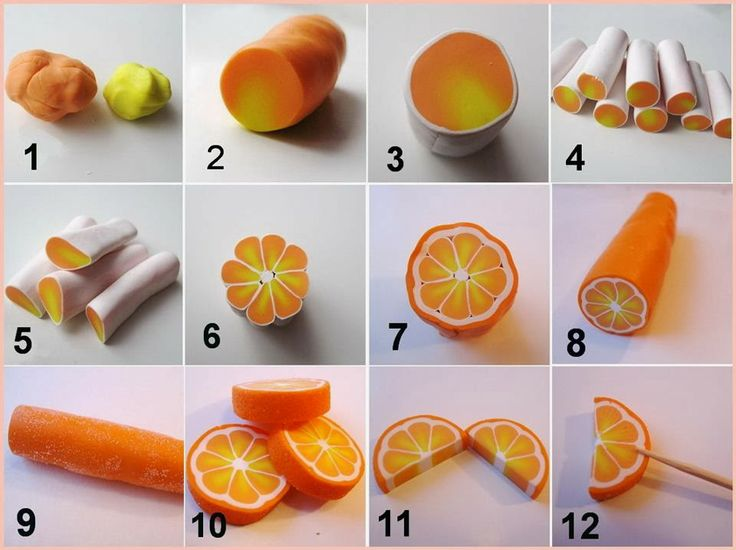 DIY Polymer Clay Orange #craft