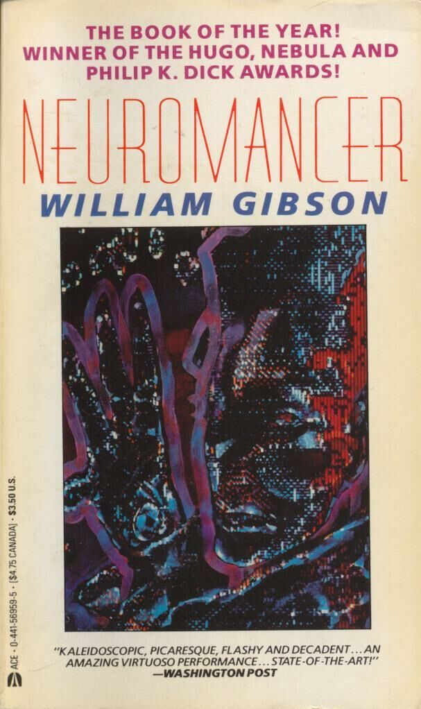 "The first of the Sprawl trilogy. The book that introduced the term ""cyberspace"" to the English language."