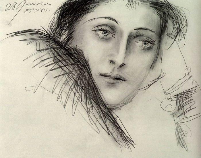 "Picasso - ""Retrato de Dora Maar"". 1937"