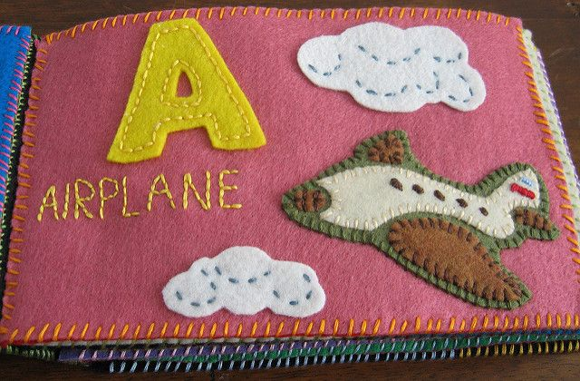 lara's felt book 4 | A is for Airplane | Anna | Flickr