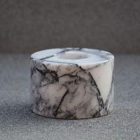 Suport Cilindric pentru Lumanare, Lila, Inaltime 6 cm