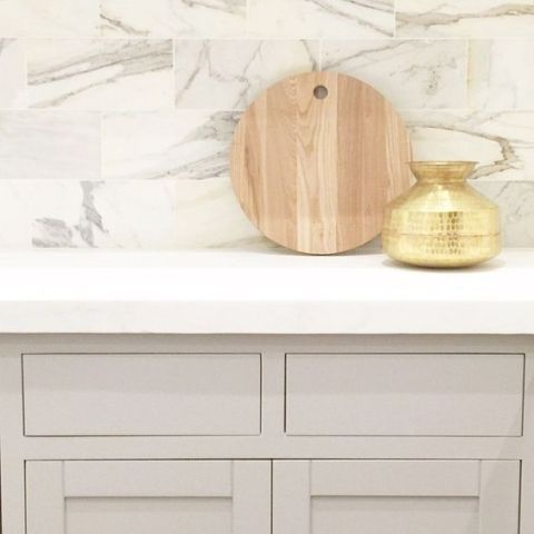 Cabinet painted with Smoke Embers from Benjamin Moore. Becki Owens Design.
