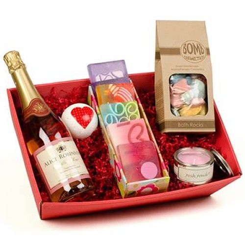 Personalised Pamper Hamper and Sparkling Rose Wine Gift Set  from Personalised Gifts Shop - ONLY £59.99
