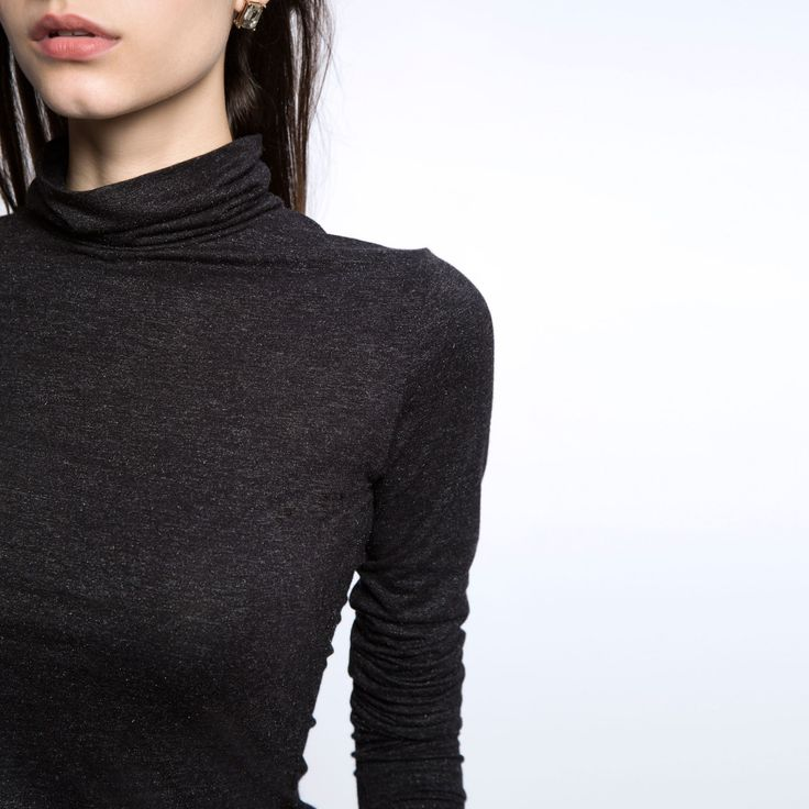 Charcoal Polo Neck Tee | Buy Women's Black Polo Shirts Online