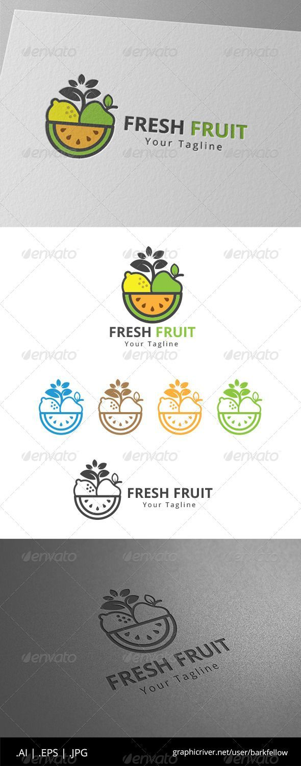 Fresh Fruits Juice - Logo Design Template Vector #logotype Download it here: http://graphicriver.net/item/fresh-fruits-juice-logo/8612560?s_rank=978?ref=nexion