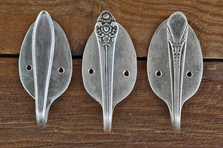 Spoon Handle Drawer Pulls on a Vintage Storage Cabinet | Jordan Creek Workshop