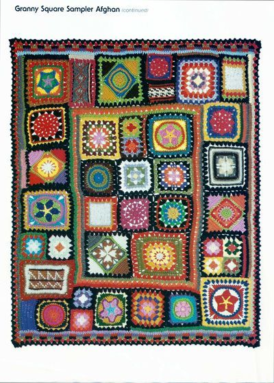 Granny Square Crochet Sampler