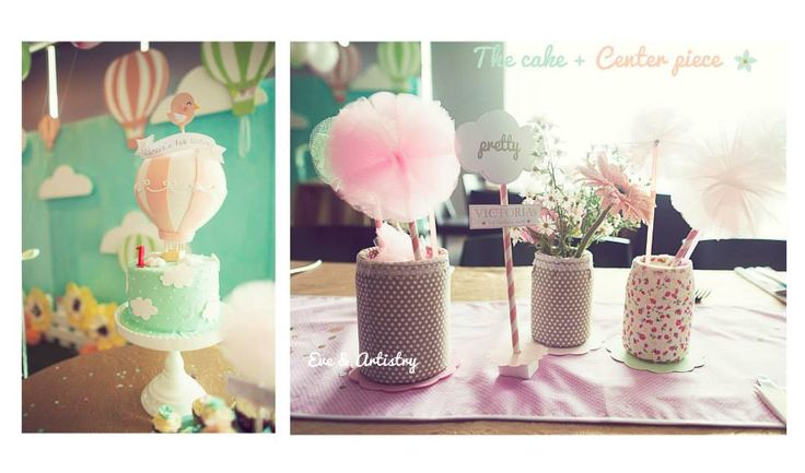 The cake and the table decoration by Eve & Artistry.