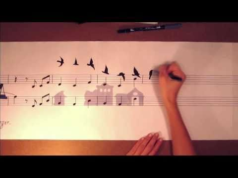 MUSIC PAINTING - Glocal Sound - Matteo Negrin ---- This is beautiful on so many levels...