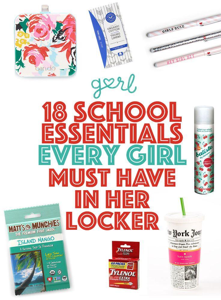 18 School Essentials Every Girl Must Have In Her Locker