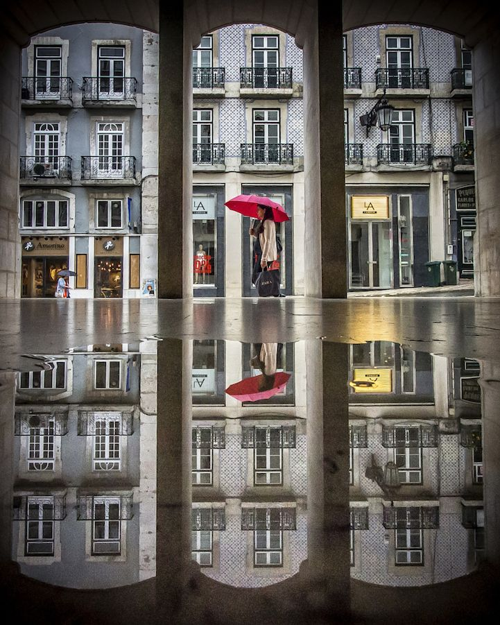 Stunning Puddle Reflections Add Magic to Everyday Scenes - My Modern Met