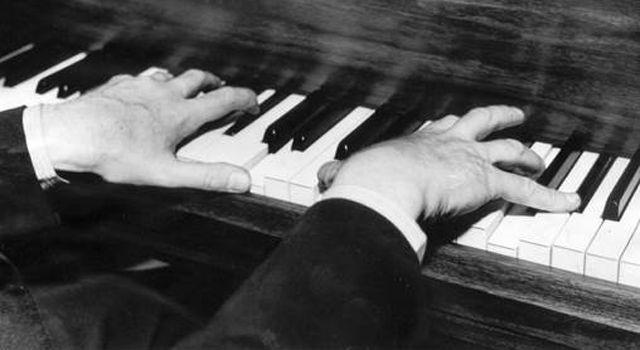Sergei Prokofiev playing the piano