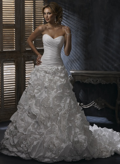 Gathered Wedding Dress