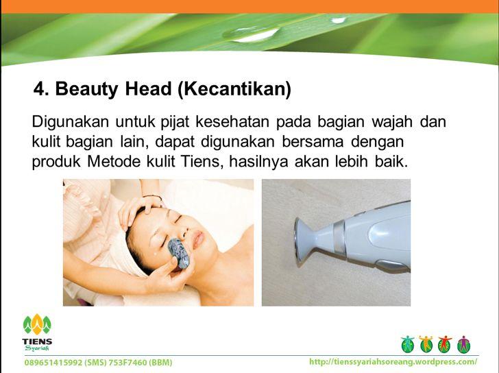 Beauty head (kecantikan): pointer ini sangat cocok untuk memijat bagian wajah ataupun bagian tubuh lainnya.
