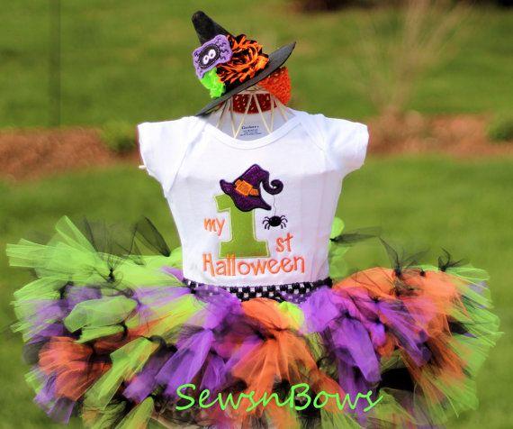 Witch tutu Girls Witch Costume Girls Witch Dress Baby by SewsnBows