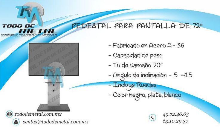 """PEDESTAL PARA PANTALLA LED 72"""""""
