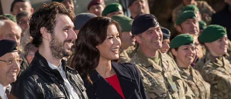 Chicksands hosts celebrity Dad's Army preview - Catherine Zeta-Jones and Blake Harrison