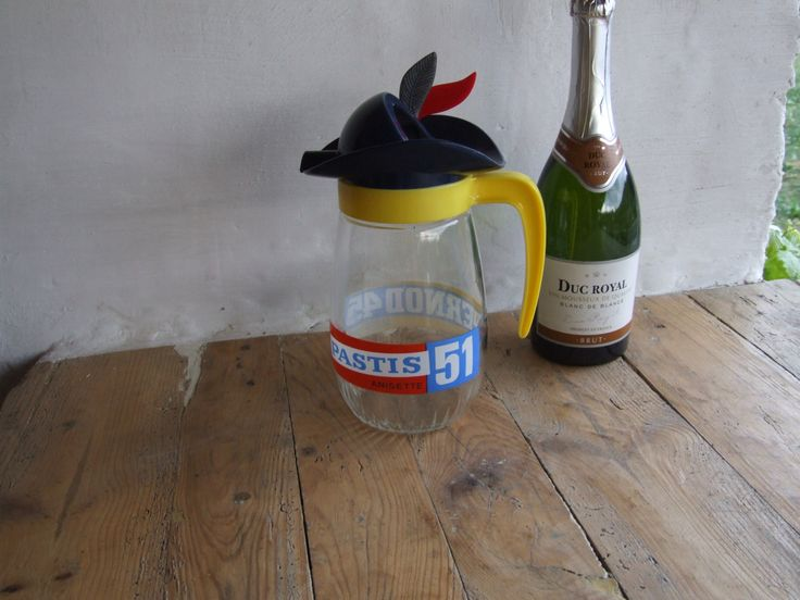 Pastis 51 water pitcher // Pernod 45 Water Jug - pinned by pin4etsy.com