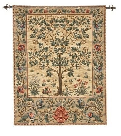 Tree of Life tapestry hanging