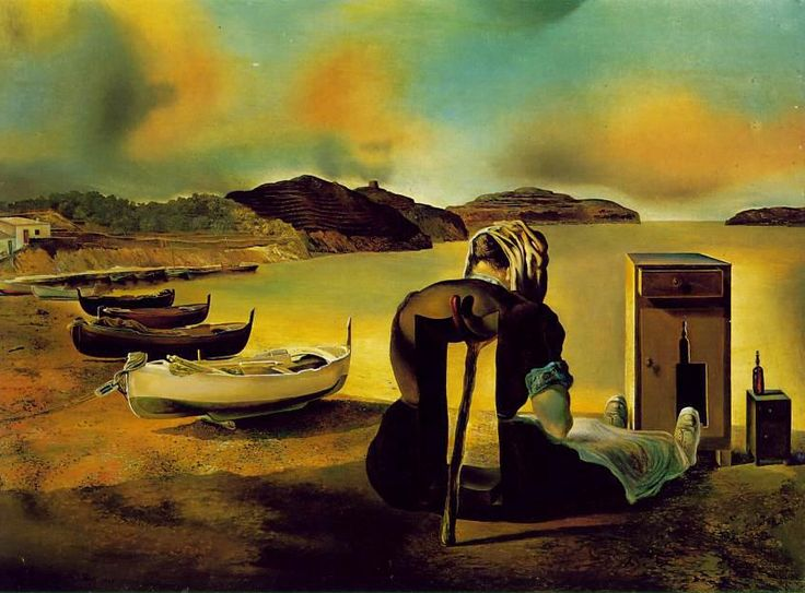 """Sometimes there's so much beauty in the world I feel like I can't take it, like my heart's going to cave in.""  - American Beauty.     The Weaning of Furniture-Nutrition, Salvador Dali."