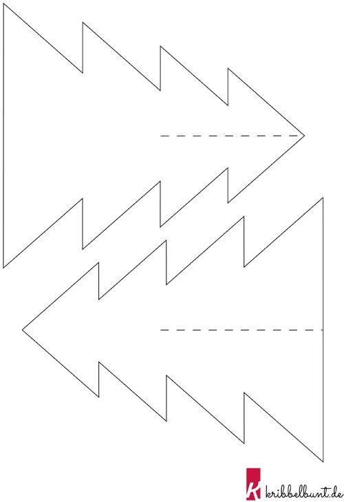 tannenbaum vorlage zum ausdrucken » pdf  kribbelbunt