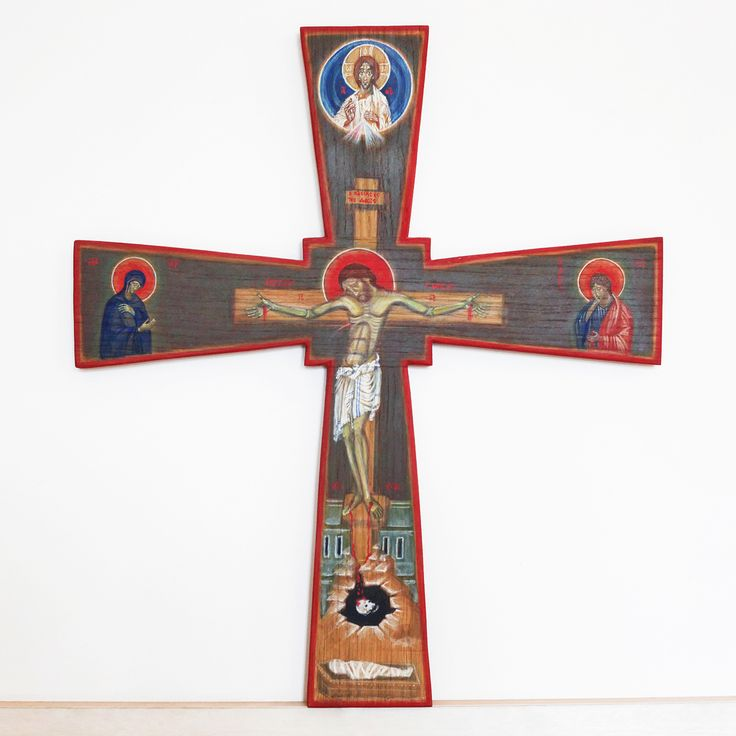 tomasz biłka op, IKONA KRZYŻA, tempera na desce dębowej, 60 x 52 cm, 2011, dla Agnieszki Kaczmarek, fot. Agata Bogusławska