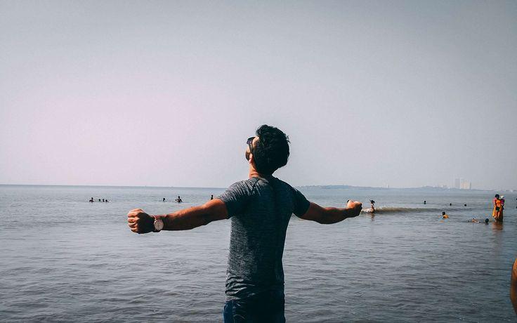 #beach #carefree #dawn #daylight #enjoying #free #fun #hands #human #lake #landscape #leisure #live #man #ocean #outdoors #people #pose #recreation #sea #seashore #style #summer #sunset #travel #water #waves