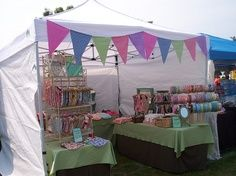 craft fair tent displays - banner ideas (not these colors) & 14 best Display tent images on Pinterest | Weddings Flea markets ...