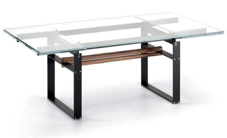 Cattelan Italia tavolo allungabile Jerez Drive, Tavolo vetro e acciaio  Lo trovi su http://www.mobilificiomarchese.com/shop/