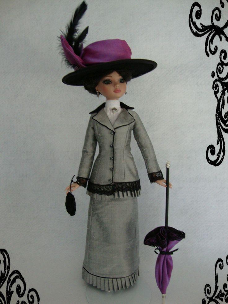 Edwardian ensemble for EllowyneTonner Dolls, Ellowyne Wild, Edwardian Styl Outfit, Dolls Fashion, Custom Outfit, Ellowyne Custom, Ellowyne Dolls, Fashion Dolls, Wild Dolls