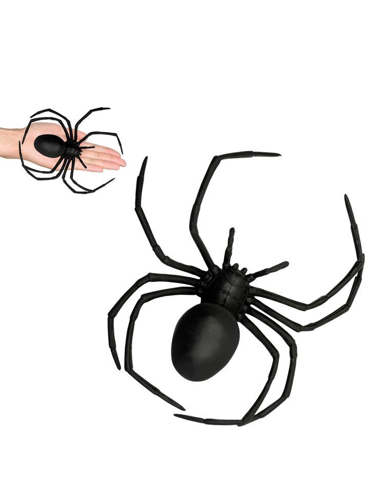 Araña negra de plástico 18x15 cm Halloween: Esta araña mide alrededor de 18 cm…