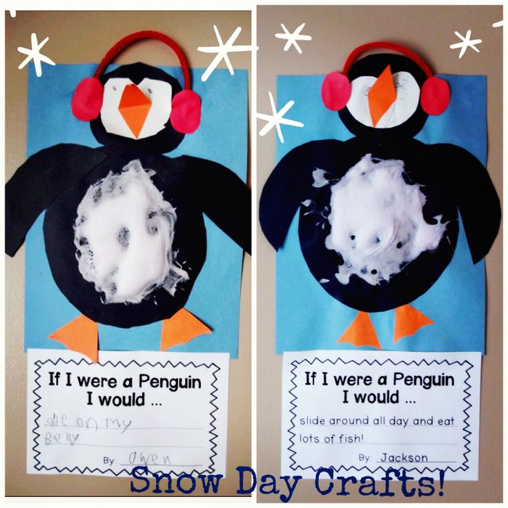 Winter Craft And Handwriting Activity