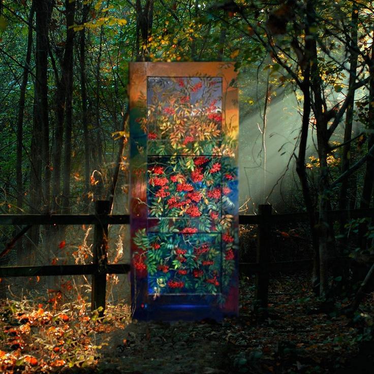 Oil Painting on door, painter: Janusz Konecki