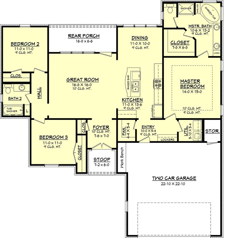 1000 images about house plans 1800 2200 sq ft on for 1800 sq ft house plans open concept