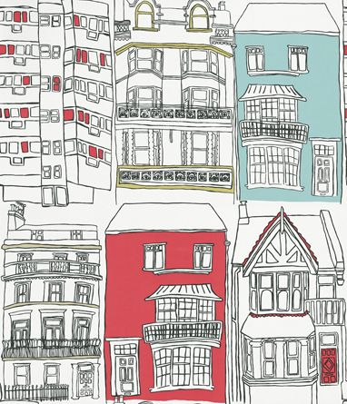 Brighton wallpaper by Harlequin