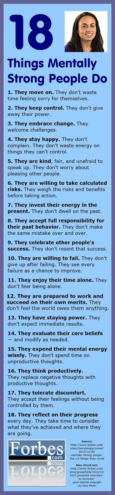 Celebrity Quotes: 18 things mentally strong people do