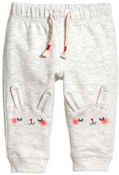 $12.99 Joggers in lightweight cotton sweatshirt fabric. Elastication and decorative tie at waist. Ribbed hems. Afflink.