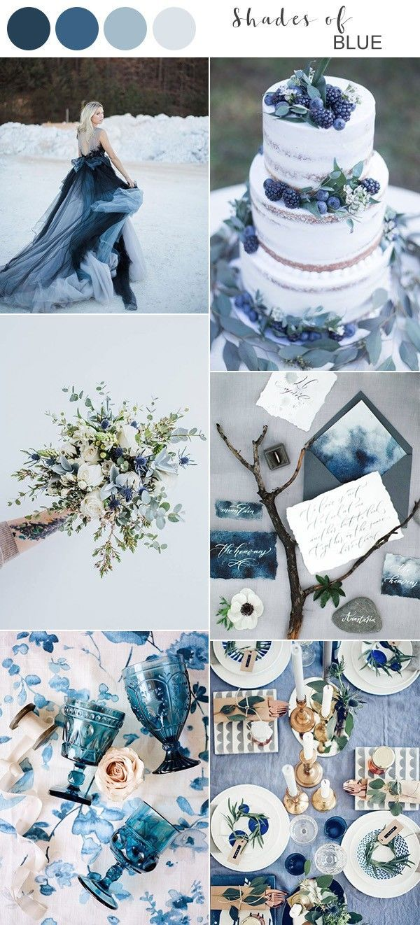 Top 10 Winter Wedding Color Ideas For 2019 With Images Blue