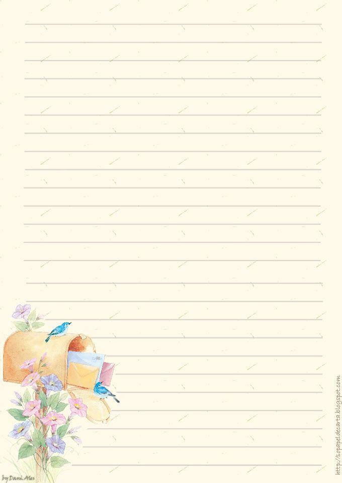 Mer enn 25 bra ideer om Papel para carta på Pinterest Molde de - lined stationary template