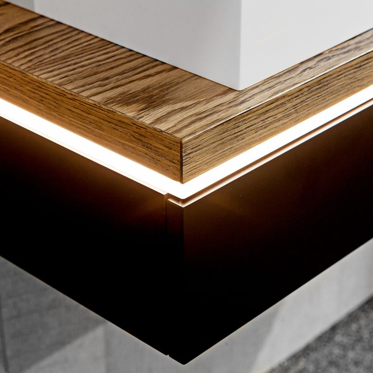 Diffuse a sleek modern feature into your dream #BathroomConcept by including LED. #TimberlineDesign #InteriorDesign