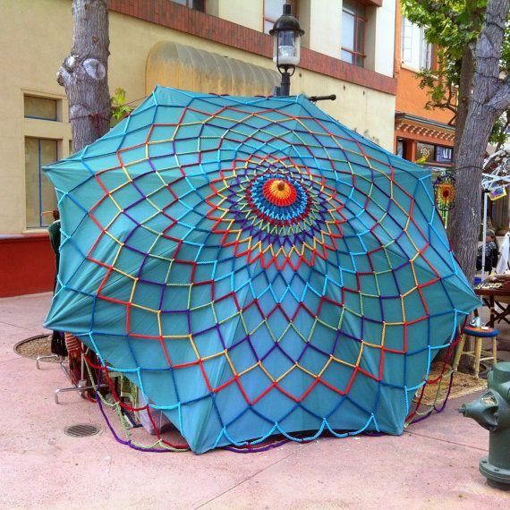Crochet Canopy Cover Giant Mandala Web Festival Tent Cover