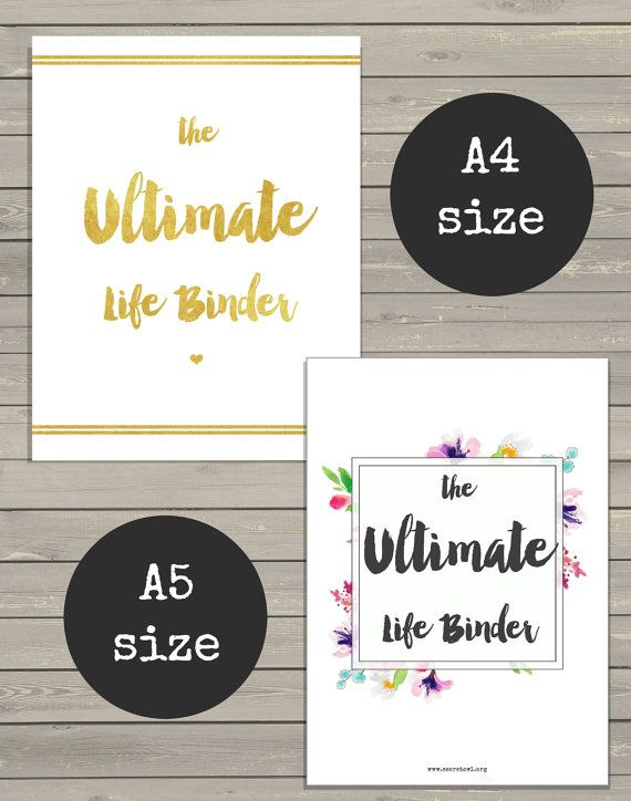 ULTIMATE LIFE BINDER - includes A5 and A4 printable kits!  Are you ready to have more focus and make more progress? I designed this Ultimate