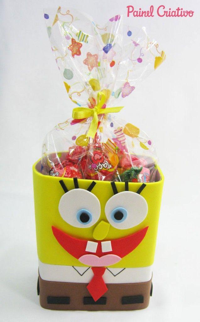 como fazer lembrancinha bob esponja eva aniversario dia das criancas (5)