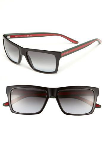 Free shipping and returns on Gucci 56mm Sunglasses at Nordstrom.com. Vintage-inspired frames with signature-colored arms define sharp sunglasses with gradient lenses.