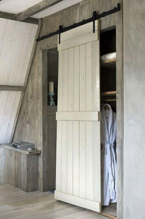 Old door that glides