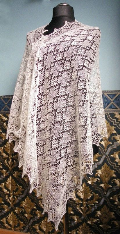 Haapsalu shawl traditional Estonian lace shawl CUSTOM by ByRees, $142.00
